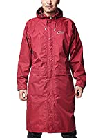 Icegrey Adult Lightweight PVC Long Size Hooded Raincoat Red 2XL