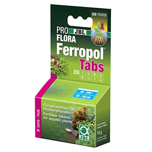 JBL FerropolTabs 2020000 Pflanzendünger für Süßwasser Aquarien, 30 Tabletten, Reichweite: 750 l