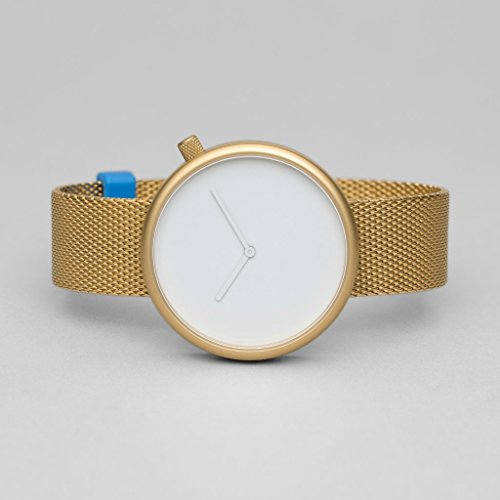 Bulbul Ore Unisex Quartz Watch with White Dial Analogue Display and Gold  Stainless Steel Gold Plated 8f18aa2225