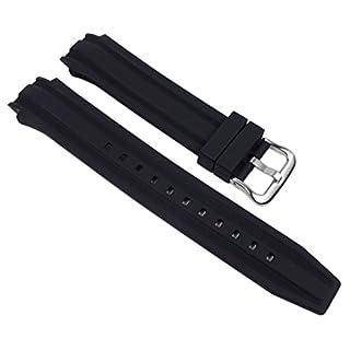 Casio Ersatzband Uhrenarmband Resin Band schwarz für AMW-702-7AVF
