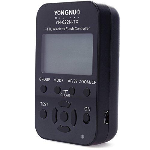 Yongnuo YN-622N-TX i-TTL Télécommande sans fil pour flash pour émetteur-récepteur YN-622N Compatible Nikon D70/D70S/D80/D90/D200/D300/D300S/D600/D700/D800/D3000/D5000/D7000