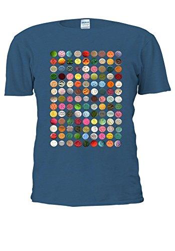 NisabellaLTD -  T-shirt - Maniche corte  - Uomo Royal Blue XX-Large