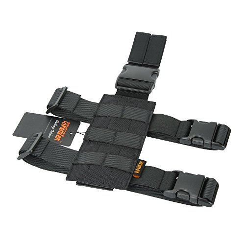 EXCELLENT ELITE SPANKER Taktisch Drop Beinholster Einstellbar Platform Molle Module Universal Tasche für linkes/rechtes Bein(Schwarz) (Vollständige Link Kostüm)