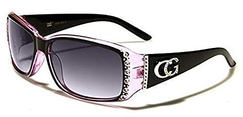 Womens C.G Fashion Celebrity Style Sunglasses with Diamante Stone Design