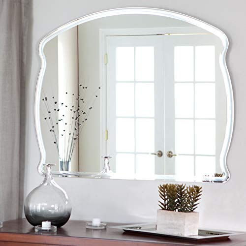 Quality Glass Frameless Decorative Mirror   Mirror Glass For Wall   Mirror For Bathrooms   Mirror In Home   Mirror Decor   Mirror Size : 18 X 24inch