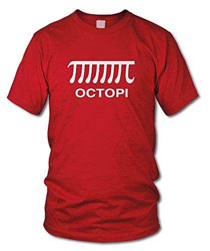 shirtloge - OCTOPI - KULT - Fun T-Shirt - in verschiedenen Farben - Größe S - XXL Rot (Weiß)