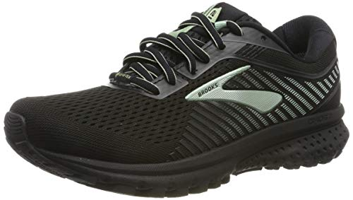Brooks Ghost 12 GTX, Scarpe da Running Donna, Nero (Black/Ebony/Aqua 010), 41 EU