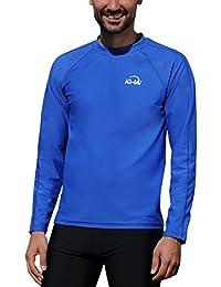 iQ-Company UV 300 T-Shirt Watersport LS - Camiseta con manga larga de buceo para hombre, color azul
