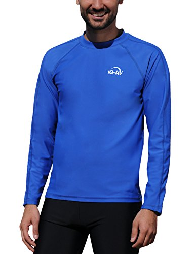 Lycra Langarm Rash Guard (iQ-Company Herren UV-Schutz T-Shirt IQ 300 Watersport Long Sleeve, Dark-Blue, L, 649122_2445)