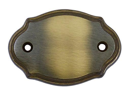 Namensschild Türschild 70 x 50 mm Messing brüniert unbeschriftet