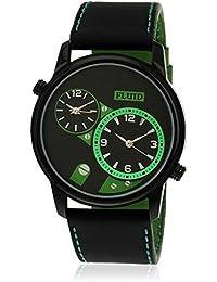 Fluid Black-Green Casual Analog Watch For Men FL-126-IPB-BK01