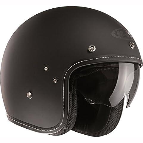 F7MBL - HJC FG-70s Open Face Motorcycle Helmet L Black (MC5F)