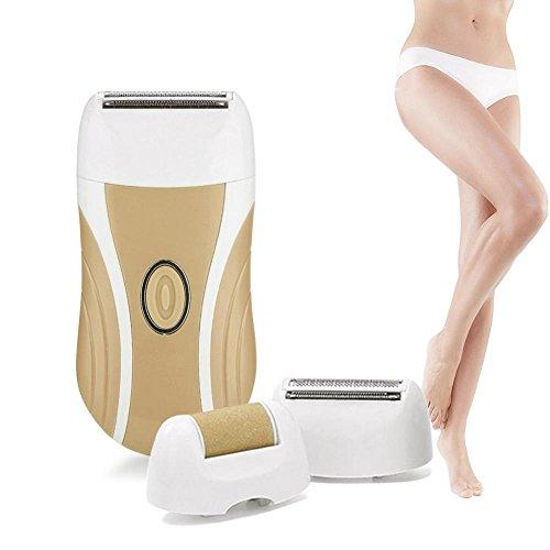Epilierer, Lady Shaver 3 In 1 schnurloses USB-elektrisches Epilator für Frauen und Männer Multifunktionshaar-Abbau-Werkzeug-Nagel, der Bohrgerätgesichtskörperpflege mahlt(Braun) -