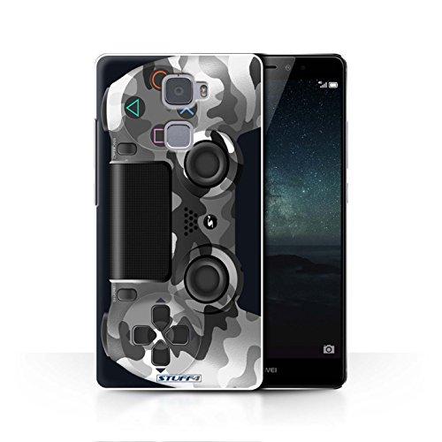 Stuff4 Hülle / Case für Huawei Mate S / Weiß Tarnung Muster / Playstation PS4 Kollektion Mate, Camo