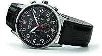 Reloj Swiss Military 06-4187.04.007 de cuarzo para hombre con correa de piel, color negro de Swiss Military Hanowa
