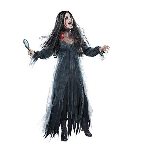 TUWEN Halloween-KostüM Horror Ghost Bride Zombie KostüM Spiel Kleid Bar Maskerade Zombies KostüMe (Bride Ghost Halloween Kostüm)