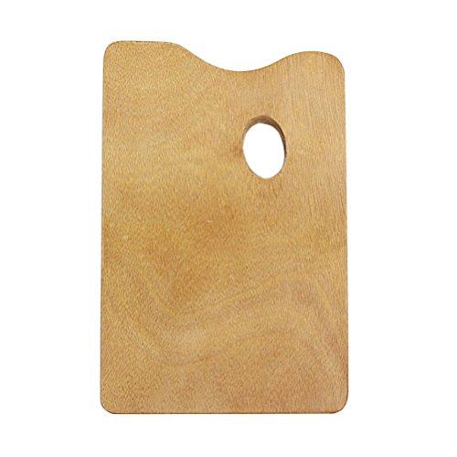 Healifty Paleta de pintura de madera cuadrada para pintura al óleo con agujero para el pulgar para acrílico acuarela y pintura de Gouache
