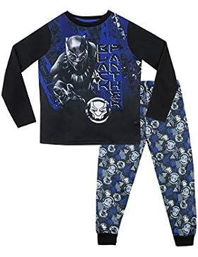 Marvel Pijamas de Manga Corta para niños Black Panther