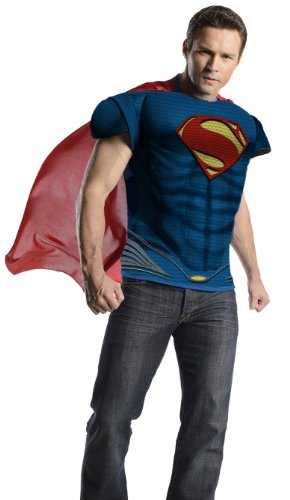 Rubies 887166 - Man of Steel Muskelshirt Kostüm - - Kostüm Steel Man Of Superman Halloween