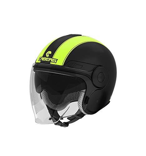 Caberg casco Uptown, Nero Opaco/Giallo Fluo, Taglia XXL