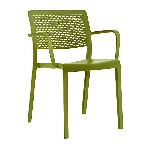 resol grupo 21089 Silla de Diseño, Verde oliva, 54 x 57 x...