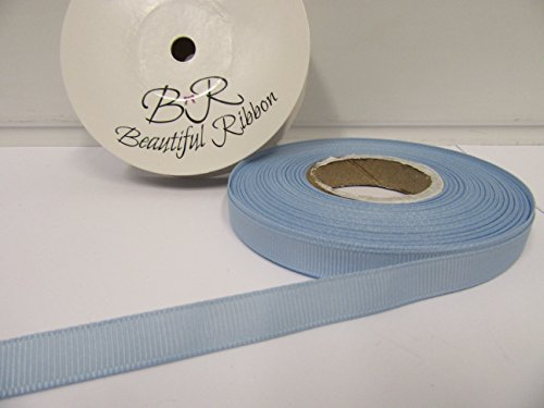 Beautiful Ribbon 1 Rouleau de Ruban Gros-Grain 10mm x 20 mètres Bleu Clair Recto-Verso nervuré Grosgrain 10 mm