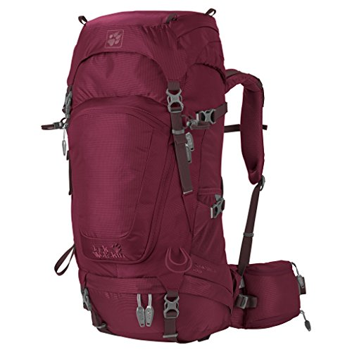 Jack Wolfskin Damen Highland Trail 34 Women Rucksack garnet red