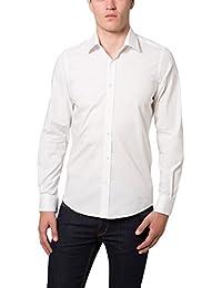 James Tyler Herren Businesshemd, Slim Fit - Premiumqualität