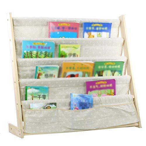XJJUN Bücherregal for Kinder Bücherregal Bodenständig Schrittweise 4. Stock L-förmige Seitenwand Hohe Kapazität Multifunktion Massivholz 3 Größen (Color : D-79x26x73cm)