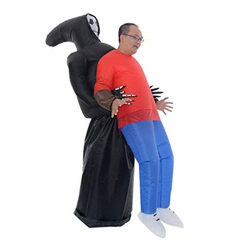 Dkings Il Fantasma di Halloween degli Uomini delle Donne Pick Me Up Costume Gonfiabile Gonfiabile - con roba per Le Gambe, Festa di Addio al Celibato di Natale