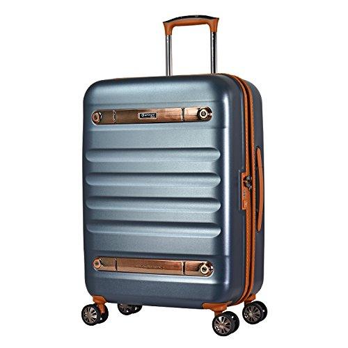 Eminent Gold Koffer Nostalgia 66 cm 73 L Hartschale aus aus Polycarbonat 4 Leise Doppelrollen TSA Schloss Graphit