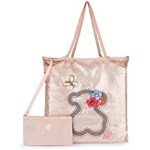 Tous Shopping Jodie Special Patch Rosa, Shopper para Mujer, 37x42x1 cm (W x