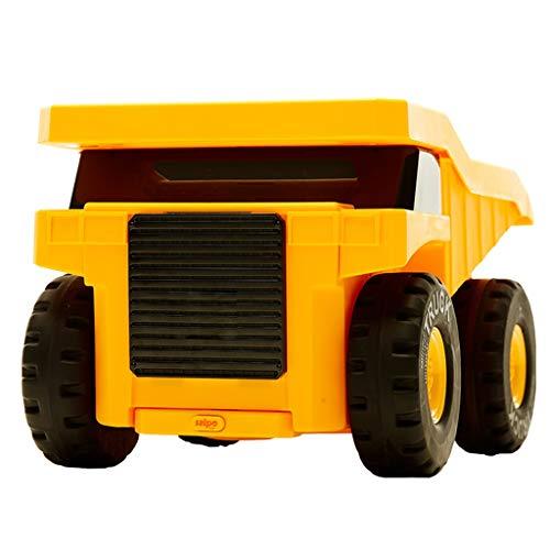KQKLQQ Trolley Viaggio for Ragazzi e Ragazze, Bagaglio a Mano for i Bambini, Fumetto del Neonato Valigia for Ingegneria Car, Bambino Piccolo Regalo (Giallo)