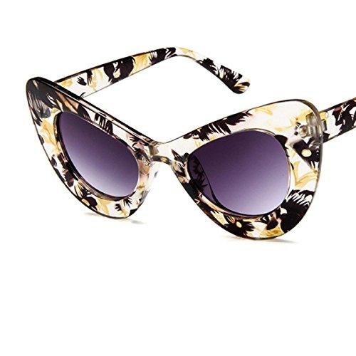 LQABW 2018 Neue Retro Katze Augen Mode Schmetterling Frame Trendy Spiel 100% UV400 Sonnenbrille,B