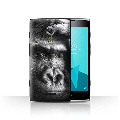 Stuff4® Hülle/Case für Alcatel Flash 2 / Gorilla/AFFE Muster/Wilde Tiere Kollektion