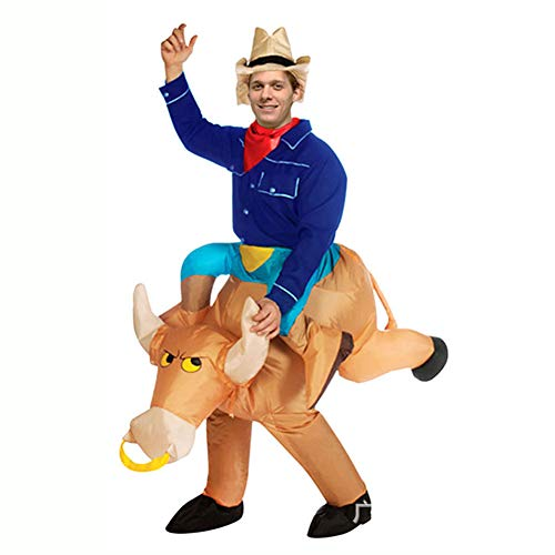 Sxwz Halloween aufblasbare Kleidung, Centaur Orc Adult Cosplay Weihnachten Karneval Eltern-Kind-Performance Party Kostüm,D,150/190cm (Centaur Kostüm Kinder)