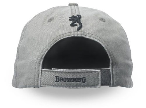 Browning Shrike Twill Cap with 3-D Buckmark, Sage/Black, 308004541