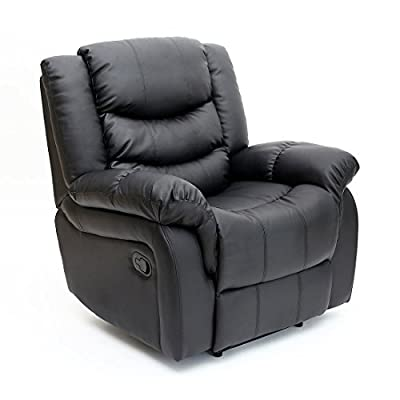 Seattle Leather Recliner Armchair Sofa Home Lounge Chair Reclining Gaming from More4Homes