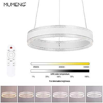 Lampadario a Sospensione Plafoniera LED – Moderna Lampadario, 36W, 3000K-6000K, Dimmerabile con Telecomando