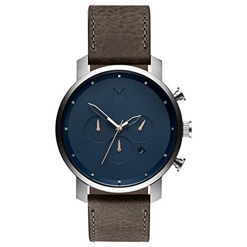 MVMT Herren Chronograph Quarz Uhr mit Leder Armband D-MC01-SGR