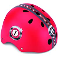 Globber Helm XS/S (51-54 cm) Rot Casco Junior Racing, Infantil, Rojo, Extra-Small/Small