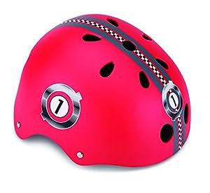 Globber Helm Junior, Racing XS/S (51-54 cm) Rot Casco, Infantil, Rojo, Extra Small