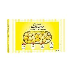 Idea Regalo - MAXTRIS   Confetti Italiani di Mandorla   SFUMATO GIALLO 4 GUSTI   1 Kg.