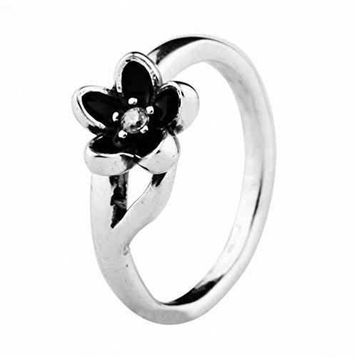 TAOTAOHAS Anillos Mujer Plata de ley [flor de loto,] Talla 18