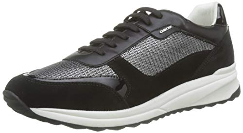 Geox Damen D AIRELL C Sneaker, Grau (Gun/Black C1223), 42 EU