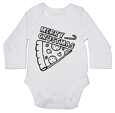 HippoWarehouse Merry Crustmas baby bodysuit (long sleeve) boys