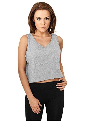TB709 Ladies Open Edge Short Tee Shirt, Größe:M;Farbe:GREY