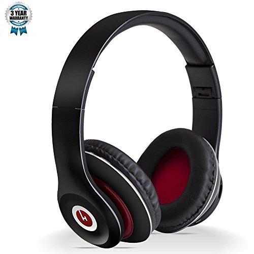hobaos Bluetooth Kopfhörer über Ohr, Hi-Fi Stereo Wireless Headset, faltbar, weiche memory-protein Ohrenschützer, W/Integriertes Mikrofon und Kabel Modus für PC/Handys/TV mit carrring Fall (Boss-bluetooth-sound-system)