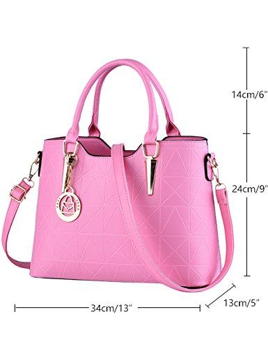 Menschwear Ladies Pu Borse Ladies Handbag Black Handbag School Ladies Handbags Purple Pink