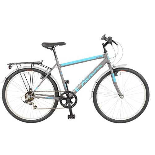 "FalconExplorer Unisex Mountain Bike Black/Blue, 19"" inch steel frame, 6 speed strong and lightweight alloy wheel rims front and rear v-brakes"